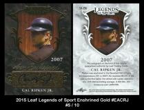 2015 Leaf Legends of Sport Enshrined Gold #EACRJ