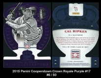 2015 Panini Cooperstown Crown Royale Purple #17