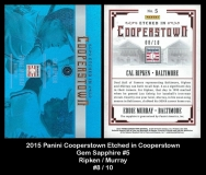2015 Panini Cooperstown Etched in Cooperstown Gem Sapphire #5
