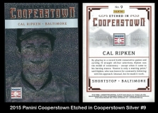 2015 Panini Cooperstown Etched in Cooperstown Silver #9