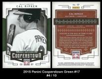 2015 Panini Cooperstown Green #17
