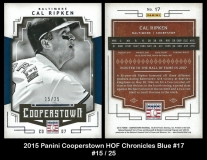 2015 Panini Cooperstown HOF Chronicles Blue #17