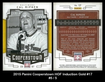 2015 Panini Cooperstown HOF Induction Gold #17