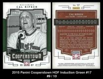 2015 Panini Cooperstown HOF Induction Green #17