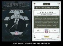 2015 Panini Cooperstown Induction #20