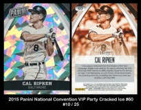 2015 Panini National Convention VIP Party Cracked Ice #60
