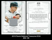 2015 Panini National Treasures #104
