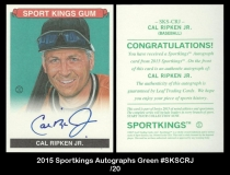 2015 Sportkings Autographs Green #SKSCRJ