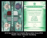 2015 Sportkings Fourmidable Memorabilia Green #F06