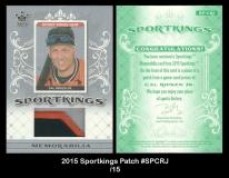 2015 Sportkings Patch #SPCRJ