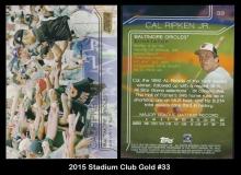 2015 Stadium Club Gold #33