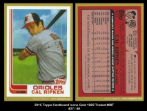 2015 Topps Cardboard Icons Gold 1982 Traded #98T