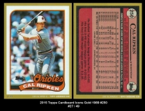 2015 Topps Cardboard Icons Gold 1989 #250