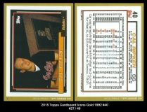 2015 Topps Cardboard Icons Gold 1992 #40