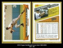 2015 Topps Cardboard Icons Gold 1993 #300