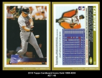 2015 Topps Cardboard Icons Gold 1996 #200