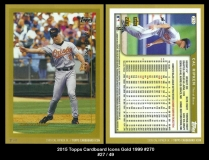 2015 Topps Cardboard Icons Gold 1999 #270