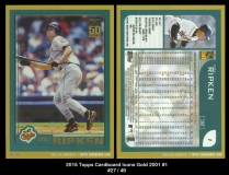 2015 Topps Cardboard Icons Gold 2001 #1