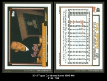 2015 Topps Cardboard Icons 1992 #40