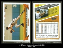 2015 Topps Cardboard Icons 1993 #300