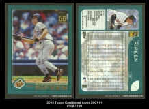2015 Topps Cardboard Icons 2001 #1