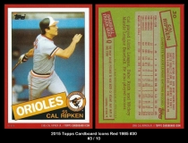 2015 Topps Cardboard Icons Red 1985 #30