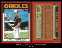2015 Topps Cardboard Icons Red 1986 #340