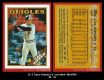 2015 Topps Cardboard Icons Red 1988 #650