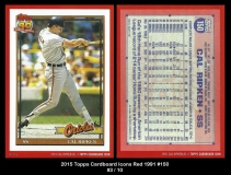 2015 Topps Cardboard Icons Red 1991 #150