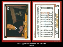 2015 Topps Cardboard Icons Red 1992 #40
