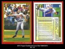 2015 Topps Cardboard Icons Red 1999 #270