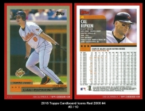 2015 Topps Cardboard Icons Red 2000 #4