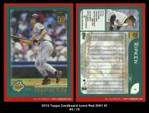 2015 Topps Cardboard Icons Red 2001 #1