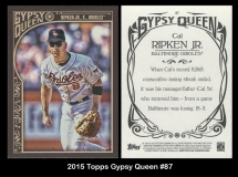 2015 Topps Gypsy Queen #87