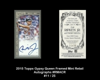 2015 Topps Gypsy Queen Framed Mini Retail Autographs #RMACR