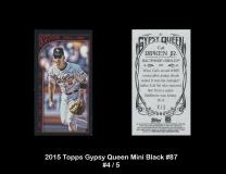 2015 Topps Gypsy Queen Mini Black #87