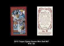 2015 Topps Gypsy Queen Mini Red #87