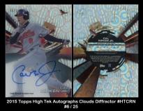 2015 Topps High Tek Autographs Clouds Diffractor #HTCRN