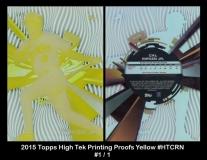 2015 Topps High Tek Printing Proofs Yellow #HTCRN