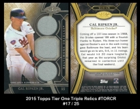 2015 Topps Tier One Triple Relics #TORCR