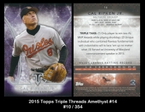 2015 Topps Triple Threads Amethyst #14