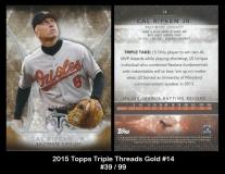2015 Topps Triple Threads Gold #14