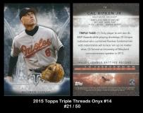 2015 Topps Triple Threads Onyx #14