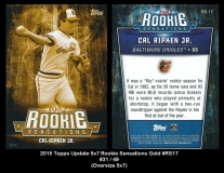 2015 Topps Update 5x7 Rookie Sensations Gold #RS17