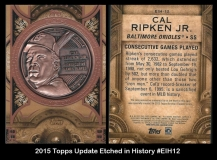 2015 Topps Update Etched in History #EIH12