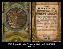 2015 Topps Update Etched in History Gold #EIH12