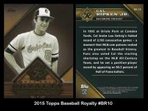 2015 Topps Baseball Royalty #BR10