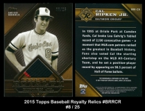 2015 Topps Baseball Royalty Relics #BRRCR