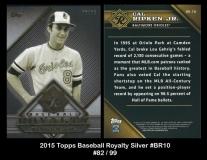 2015 Topps Baseball Royalty Silver #BR10
