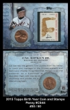 2015 Topps Birth Year Coin and Stamps Penny #CS44